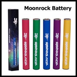 Dr.Zodiaks Moonrock Clear Vape Pen Battery 350mAh Auto Draw E Cigarette Vaporizer 10.5mm for 510 Cartridges Colorful