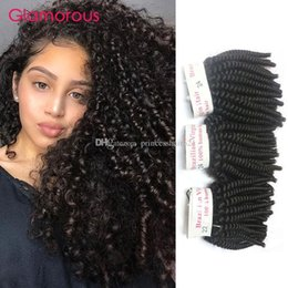 Glamorous Mongolian Kinky Curly Hair Weave 3 Pieces Natural Color Peruvian Brazilian Malaysian Indian Virgin Hair Kinky Curly Hair Extension