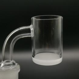 Top quality Opaque Bottom Gavel Flat Top Quartz Banger dab Nail 10mm 14mm 18mm Male Female 45 90 Degree Honey Bucket for bong