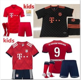 best quality 2019 2020 Bayern Munich Soccer jersey kits home res 18 19 20 maillots de footbal LEWANDOWSKI MULLER ROBBEN JAMES football shir