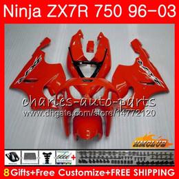 Body For KAWASAKI NINJA ZX 7R ZX750 ZX-7R 1996 1997 1998 1999 2000 28HC.3 ZX-750 factory red hot ZX 7 R ZX 750 ZX7R 96 97 98 99 00 Fairings