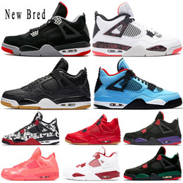 2019 New Bred 4 4s Basketball Shoes Cactus Jack Thunder Black Gum Cat Travis Scott Singles Day Toro Mens Sport Sneakers Designer Shoes