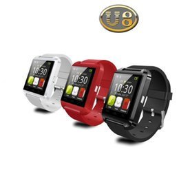 U8 Bluetooth Smart Watch Touch Screen Wrist Watches For iPhone 7 IOS Samsung S8 Sleeping Monitor Anti-lost with retail package