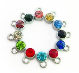 (24,60)PCS lot mix colors birthstone pendant charms Alloy Floating locket Charms Fit For Glass Magnetic Locket Jewelrys Making