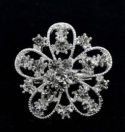 1.35 Inch Small Diamante Star Brooch with Clear Rhinestone Crystals Sparkly Silver Tone Prom Party Pins
