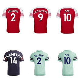 b21d2f5f477 kids kit football jersey for 18 19 Shirts OZIL SOKRATIS LACAZETTE 3rd in  Soccer Sets adult sports uniforms football clothes childrens