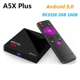 A5X Plus Android 9.0 4K TV Box RK3328 Quad Core 2GB 16GB 2.4G WIFI USB 3.0 HD2.0a VP9 H.265 Smart Media Player
