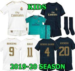 HAZARD 19 20 kids Real madrid Jersey Home away soccer Kits ASENSIO MODRIC BALE RAMOS ISCO NAVAS KROOS BENZEMA RONALDO child Football Shirt