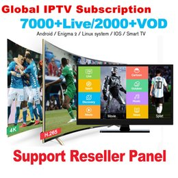IPTV Subscription France UK USA UK CA Italy Arab 30+Countries 7000+Live 3000+VOD IPTV for android tv box smart tv M3U MAG box IOS