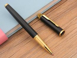 Business IM Series Matte Black With Golden Trim Roller ball Pen
