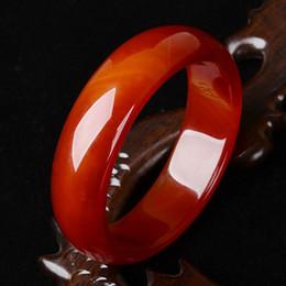 Celtic Holidays, Seasonal Red agate cuff Women's Anniversary bracelet inner diameter of 68-70 mm +box