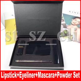 Famous 4 in 1 makeup set Kollection matte lipstick eyeliner face powder mascara eye liner make up kit