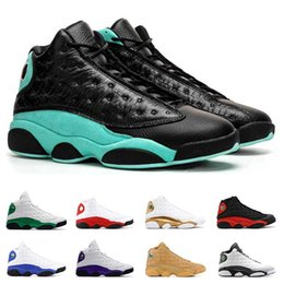 Mens Basketball shoes 13 13s ISLAND GREEN Lucky Green COURT PURPLE Bred Atmosphere Grey ALTERNATE Phantom sneakers Sport trainers size 7-13