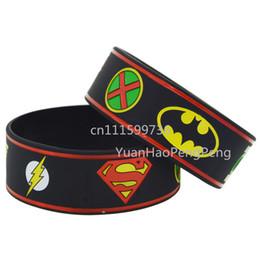 25pcs lot Justice League Superman Batman Green Lantern Wonder Woman Wristband