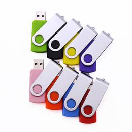 Free Engraved Logo 50PCS 128MB 256MB 512MB 1GB 2GB 4GB 8GB 16GB Swivel Metal USB Drive 2.0 Memory Flash True Storage