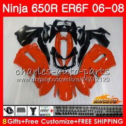 Body For KAWASAKI NINJA 650R ER6 F ER-6F 2006 2007 2008 Cowling 29HC.11 Ninja650R 650 R ER6F 06 08 ER 6F 06 07 08 Fairing Kit glossy orange