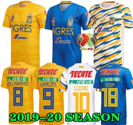 GIGNAC 19 20 Mexico club Tigres UANL Yellow home third soccer jerseys 7 Stars Vargas H. Ayala SOSA 2019 2020 away blue football Shirts
