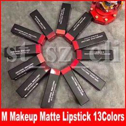 M Makeup Matte Lipstick Luster Retro Lipsticks Frost Sexy Matte Lipsticks 13 colors lipsticks with English Name