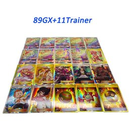 Playing Trading Cards Games EX GX Mega Shine English Cards Anime Poket Monsters Cards No repeat 100pcs lot
