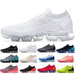 the latest ddce1 f832c Nike Air Max Vapormax En gros Vapors 2018 2.0 mens Pour Hommes Femmes Hot  Corss Randonnée Jogging Marche En Plein Air Maxes Chaussures 2 Vente Chaude  36-45