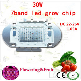 Best for hydroponics LED grow light,30w 7 bands full spectrum for growing