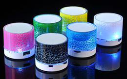 Wireless Speaker Bluetooth Mini Speakers A9 Led Colored Flash Speaker FM Radio TF Card USB Subwoofer Stereo Player Small crack 20pcs
