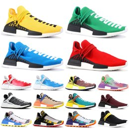 2019 NMD Human Race Pharrell Williams Men Women Running Shoes PW HU Holi MC Tie Dye Equality Designer Sport Sneakers With Box