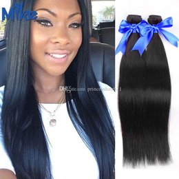 MikeHAIR Wholesale Brazilian Hair Bundles 2Pcs Natural Straight Human Hair Weaves Affordable Cheap Peruvian Indian Malaysian Hair Extensions