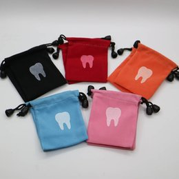 Tooth shape pattern packing bag Dental clinic gift small packing milk teeth The tooth fairy bag