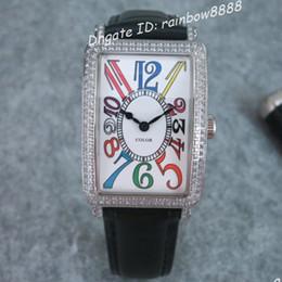 Swiss quartz diamond watches diamond rectangle couples wristwatches black leather strap with pin buckle fashion style 514