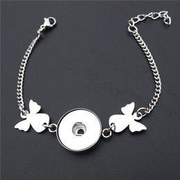 Stainless Steel Fairy Angel 18mm Snap Buttons Bracelet Noosa Chunks Jewelry For Women Girls