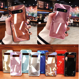 For Samsung S10 3D Diamond Phone Case For Iphone XS MAX 8 Samsung S10 EDGE PLUS M10 M20 M30 A10 M20 M30 HUAWEI TPU PC Lingge Acrylic Cover