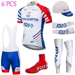 UCI Tour de France Team 2019 Groupama Fdj cycling jersey 20D pad bike shorts set summer quick dry bicycle warmers clothing