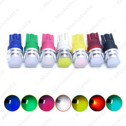 50pcs High Power T10 194 W5W 1W COB Flood Ceramic Interior Car LED Light Lamp 7 Colors Optional #5324