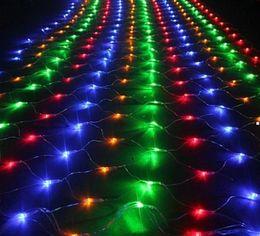 6Mx4M Colorful 678 LED Web Net Fairy Light curtain net lights christmas home garden net lamps