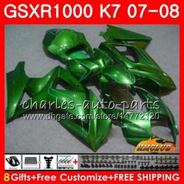 FairingForSUZUKIGSXR1000GSX-R1000K7GSXR-10000708Bodywork12HC.69GSXR1000GSXR1000070820072008Fullglossy green hot Bodykit