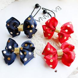Wholesale 20pcs Boutique Cute Ribbon Hair Bow Hair Ties Solid Glitter Dot Bowknot Hairpins Fashion Hair Accessories Girls Headware