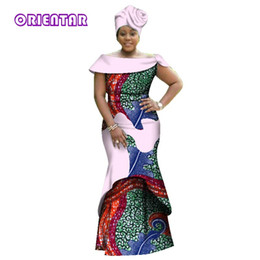 2018 new fashion style african dresses for women sexy V-neck long party  dress african bazin riche femme wedding clothing WY2836 1e61cb3220f1