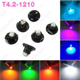 50pcs DC12V T4.2 1SMD 1210 3528 Car LED Dashboard Meter Panel LED Light Bulb 7-color #4503