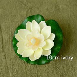 30PCS 10CM 7colors Small Artificial Water lily flower decoration foam spatterdock