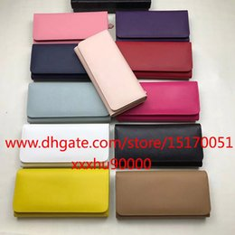 brand new saffiano leather women wallet famous Designer long wallet real leather wallet for women 1132