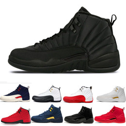New 12 12s Mens basketball shoes Winterized WNTR Gym Red Michigan Bordeaux 12 white black Flu Game taxi sports sneakers trainers size 7-13