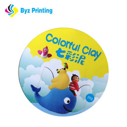 Custom 10cm diameter label sticker with circle shape for full colour printing label sticker