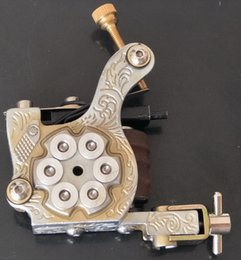 1Pc Retail Western Revolver Iron Handmade Tattoo Machine PRO GUN