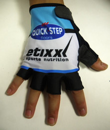 Hot Sale 2015 ETIXX QUICK STEP PRO TEAM 2 COLORS Cycling Bike Gloves Bicycle Gel Shockproof Sports Half Finger Glove