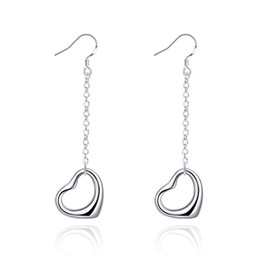 Brand new sterling silver plated Love earrings DFMSE086,women's 925 silver Dangle Chandelier earrings 10 pairs a lot