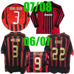 2006 2007 KAKA Maldini Inzaghi Retro lan Soccer jersey 07 08 Pirlo Nesta Gattuso Seedorf CALHANOGLU HIGUAIN 2007 2008 Retro Football shirt