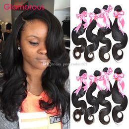 Glamorous Peruvian Virgin Hair Body Wave 4 Bundles Malaysian Indian Brazilian Weave Wavy Hair Extensions 8-34Inch Human Hair Sew In Weaving