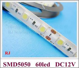 waterproof IP44 SMD 5050 LED strip light LED ribbon light flexible strip lamp DC12V SMD5050 60 led