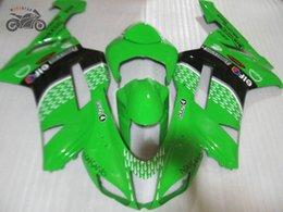 Motorcycle fairings kit for Kawasaki 2007 2008 ZX-6R motorcycle Ninja ZX6R 07 08 636 ZX 6R ZX636 green black Chinese fairing kits
